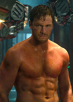 that-leftycurse:  2014 Recipe For A Good Marvel Film: Take one hot guy named Chris and add a talking raccoon with a gun.