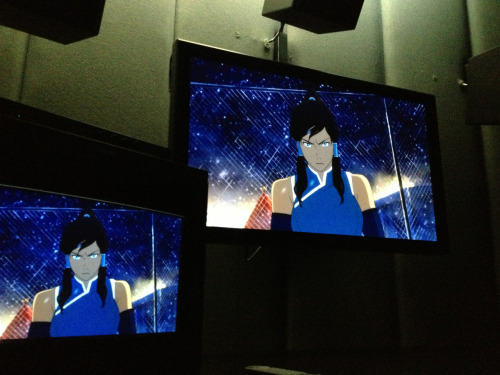 bryankonietzko:  Being at a color correction session for Book 2 today reminded me that I kicked off this blog a year ago this week with a snapshot of Korra from a Book 1 color correction session. A year later and I'm still behind in all my work, you're all still mad the show is not out yet (which, please understand, is akin to being mad at a tree for not growing apples fast enough), and Korra is still a badass.  Thanks for caring enough to be mad and for following this blog! Love, Bryan