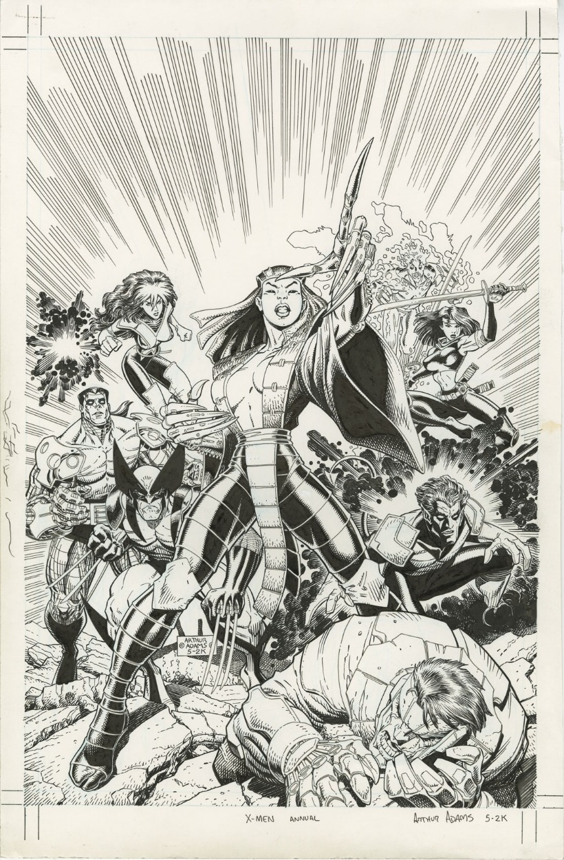 brianmichaelbendis:     X-Men Annual 2000 by Art Adams