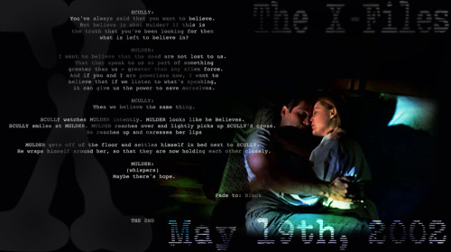 11 years ago, The X-Files waved goodbye to 9 seasons of amazing TV. What were you doing May 19th, 2002?