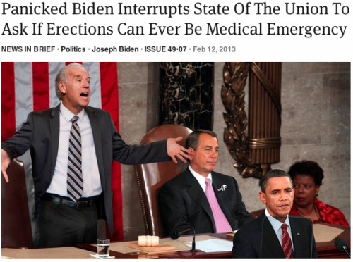 Panicked Biden Interrupts State Of The Union To Ask If Erections Can Ever Be Medical Emergency: Full Report