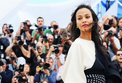 jjabramsed:  Zoe Saldana at 'Blood Ties' photocall in Cannes (May 20, 2013).