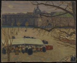 The Market Place, Concarneau, c. 1910James Wilson Morrice Canadian, 1865 - 1924Oil on canvasOverall: 60.3 x 73 cmPurchase, 1935© 2013 Art Gallery of Ontario