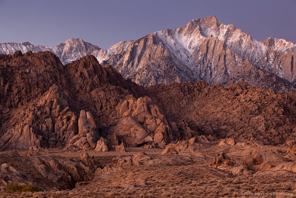 Eastern Sierras Dawn 1 // Alabama Hills, California // 2011 © Bryan Konietzko