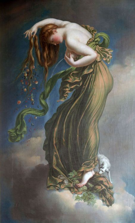 "colourthysoul:  Anne-Louis Girodet de Roussy-Trioson ~ ""Autumn"""