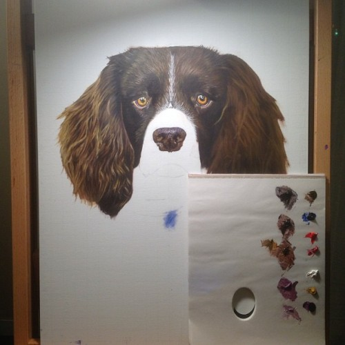 #painting a dog's nose #wip #workinprogress