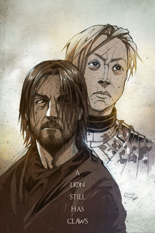 vashito:  The bear and the lady fair - Jaime Lannister and Brienne of Tarth