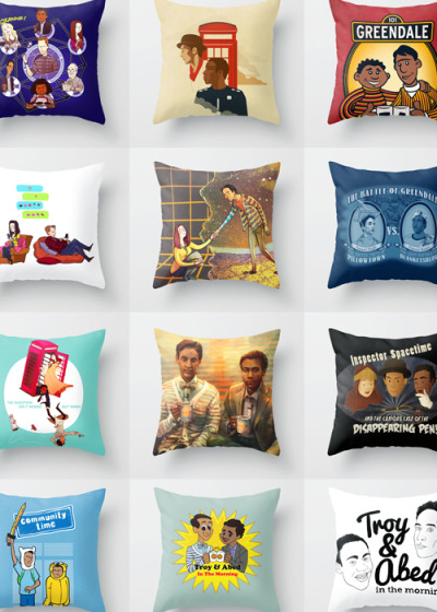 annieofitall:  Special Pillows For Your Next Pillow-Blanket Fort Remedial Chaos Theoryby Blue Spacetime by Danny Haas Greendale Street by Powerpig Birthday Cake Birthday Cakeby Blue Let's Go by Znuese Pillows Vs. Blankets by Grady Blorgons! by Blue In The Morning by Alice X. Zang Inspector Spacetime and the curious case of the disappearing pen by Leigh Lahav Community Time! by Powerpig Troy and Abed in the Morning by Danielle Mahaffeey Troy and Abed in the Morning by Stewart Chown