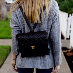 Needless to say, I WANT - Chanel Quilted Backpack
