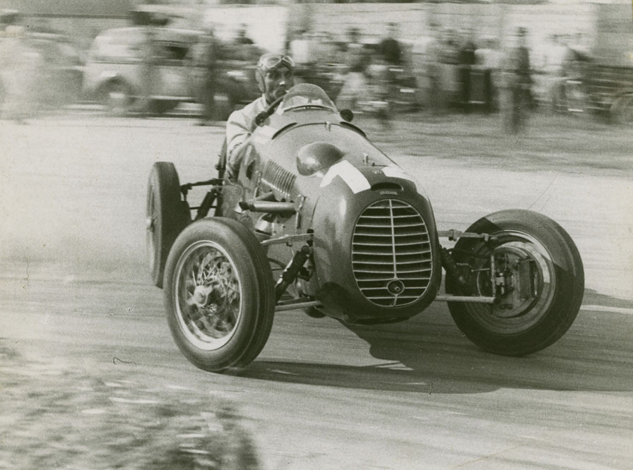 thechicane:  Felice Bonetto. Cisitalia. Finishing 2nd in the 1948 Mantova. photo by: Corrado Millanta