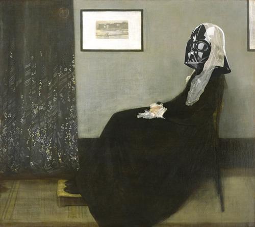 Luke, I am Whistler's Mother Artist: James WhistlerVillain: Darth Vader http://society6.com/ArtAndVillains/Darth-Whistlers-Mother_Print