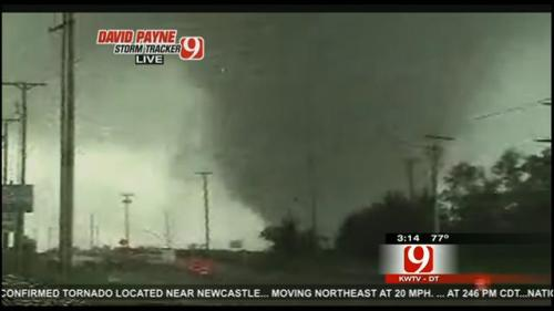 "bradfjords:  Please keep the residents of Moore, OK in your thoughts. I've never seen destruction like that in my 25 years of living in Oklahoma. They are saying it is ""the most devastating tornado in history.""  You can donate to the Red Cross HERE. Blood and donations move faster than prayers."