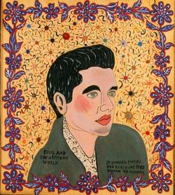 "zenfabulous:  Howard Finster""Elvis And The Arpitaun World"" (1980)"