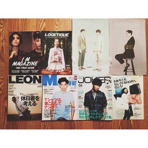 Korean & Japanese fashion magazines tho 👍