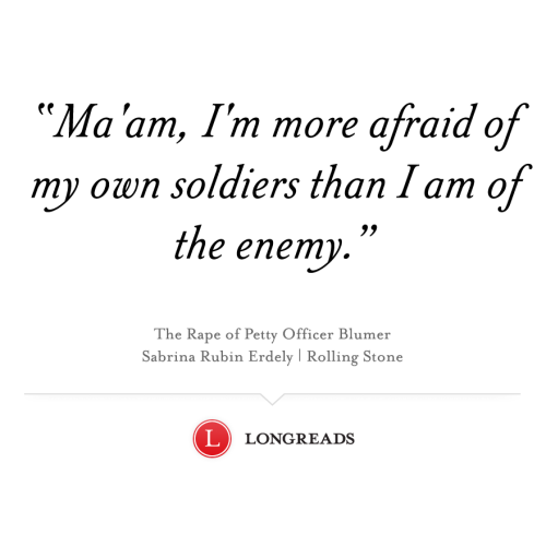 A Navy intelligence analyst reports a rape and finds herself ostracized. She's not the only one, and the U.S. military still has not taken serious steps to address a culture that condones sex abuse.