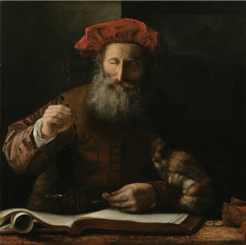 Karel van der Pluym - The Goldweigher, 17th century