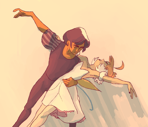 kilogramrose:  art trade w elena lucky for me i love princess tutu