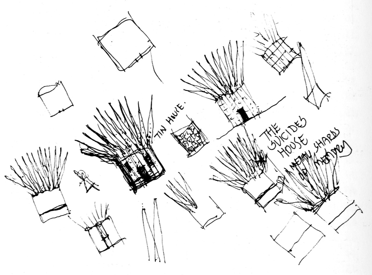 247forever:  sketch of The Suicides House by John Hejduk