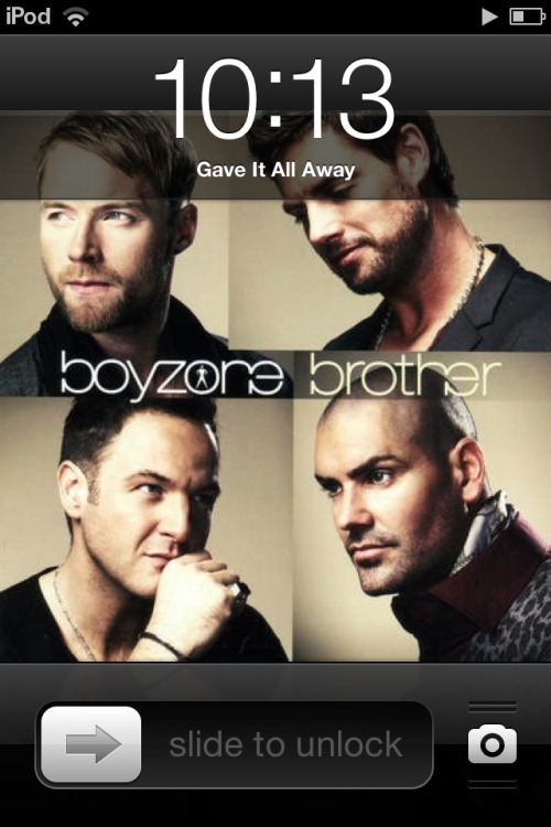 Disappointed in myself for having a song by a band named 'Boyzone' on my iPod.