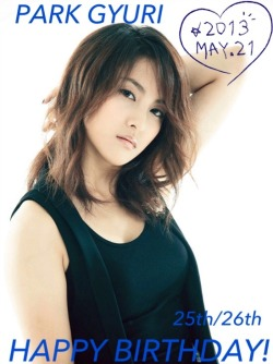 HAPPY BIRTHDAY PARK GYURI!!