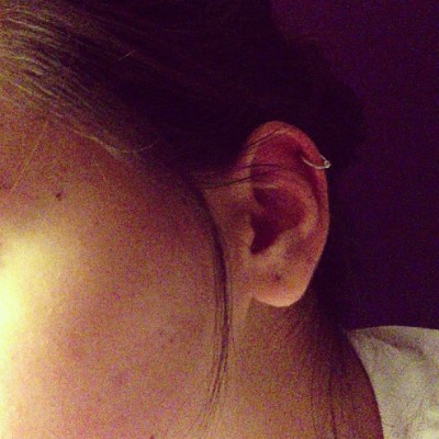 New baby :) #piercing #earring #newlook #lovingit