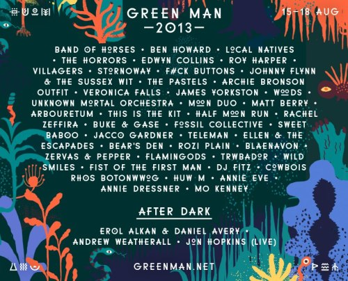 We're playing  Green Man Festival, 15 - 18th August, Black Mountains, WalesTickets: