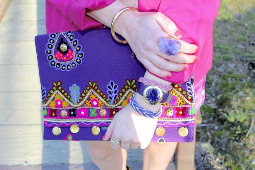 Purple and pink arm party!  See more here!