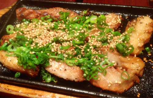 Tontoro, grilled pork cheek, at Hakata Tonton, NYC…