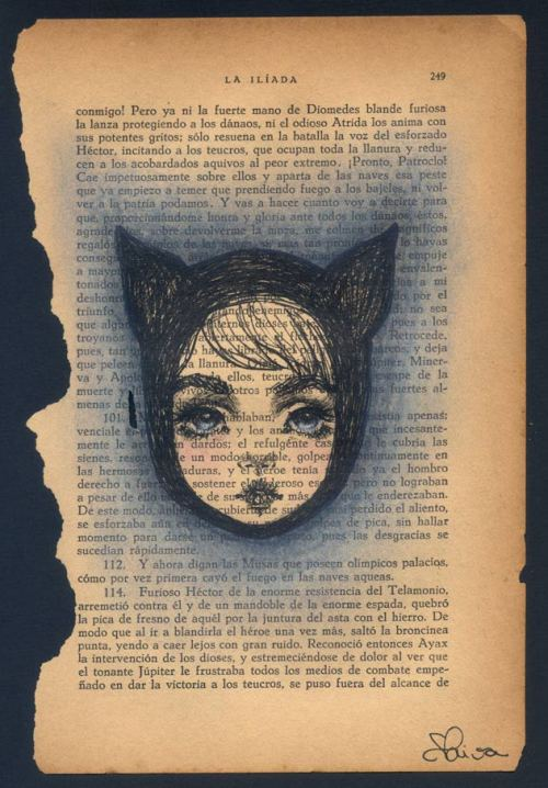 kat more book page drawings ;*