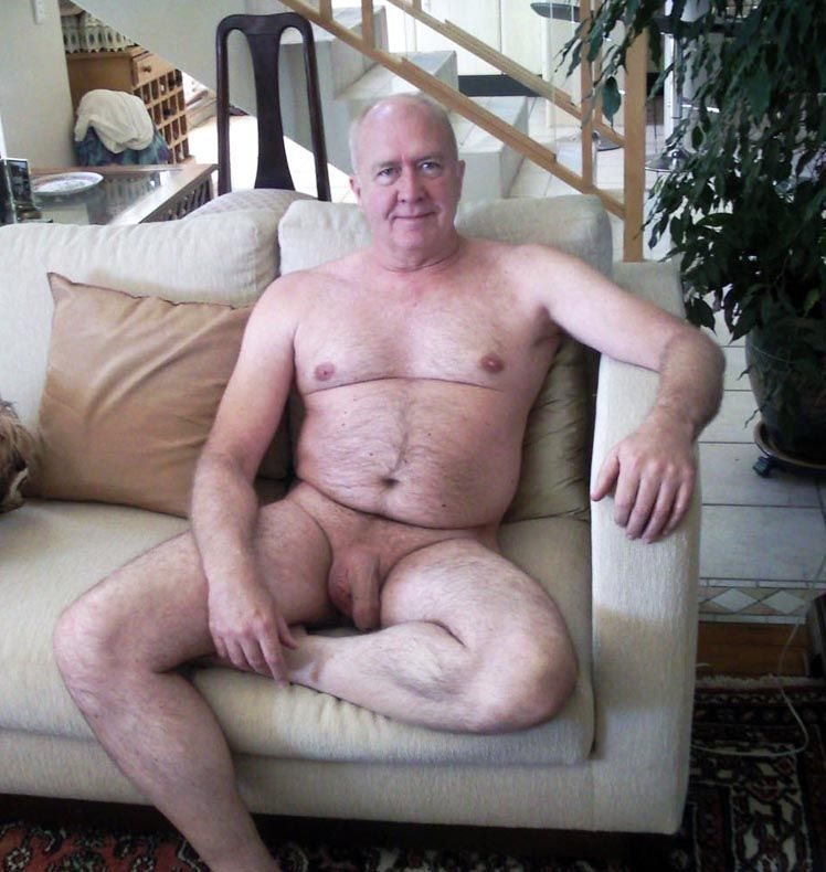 Naked silverdaddy cock