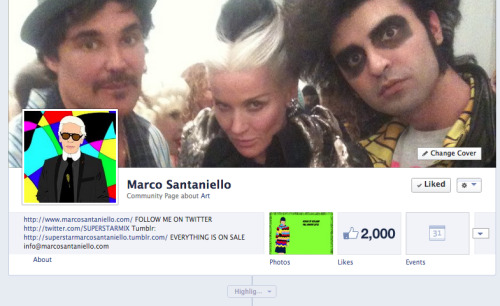 2000 likes on facebook :D THANKS SO MUCH PEOPLE !! FEEL FREE TO JOIN THE POP ARTIST MARCO SANTANIELLO LIKE HERE —-> https://www.facebook.com/SuperstarMarcoSantaniello TWITTER: @SUPERSTARMIX