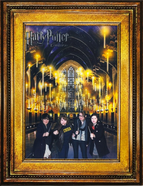 hladgerd:  lady banner, dvash mil, myself, and saezutte at Hogwarts.  so many life goals achieved in one photo 1. i'm at hogwarts 2. i have a wand 3. i'm on a team of badass magic ladies 4. i look cute 5. i'm at fucking hogwarts