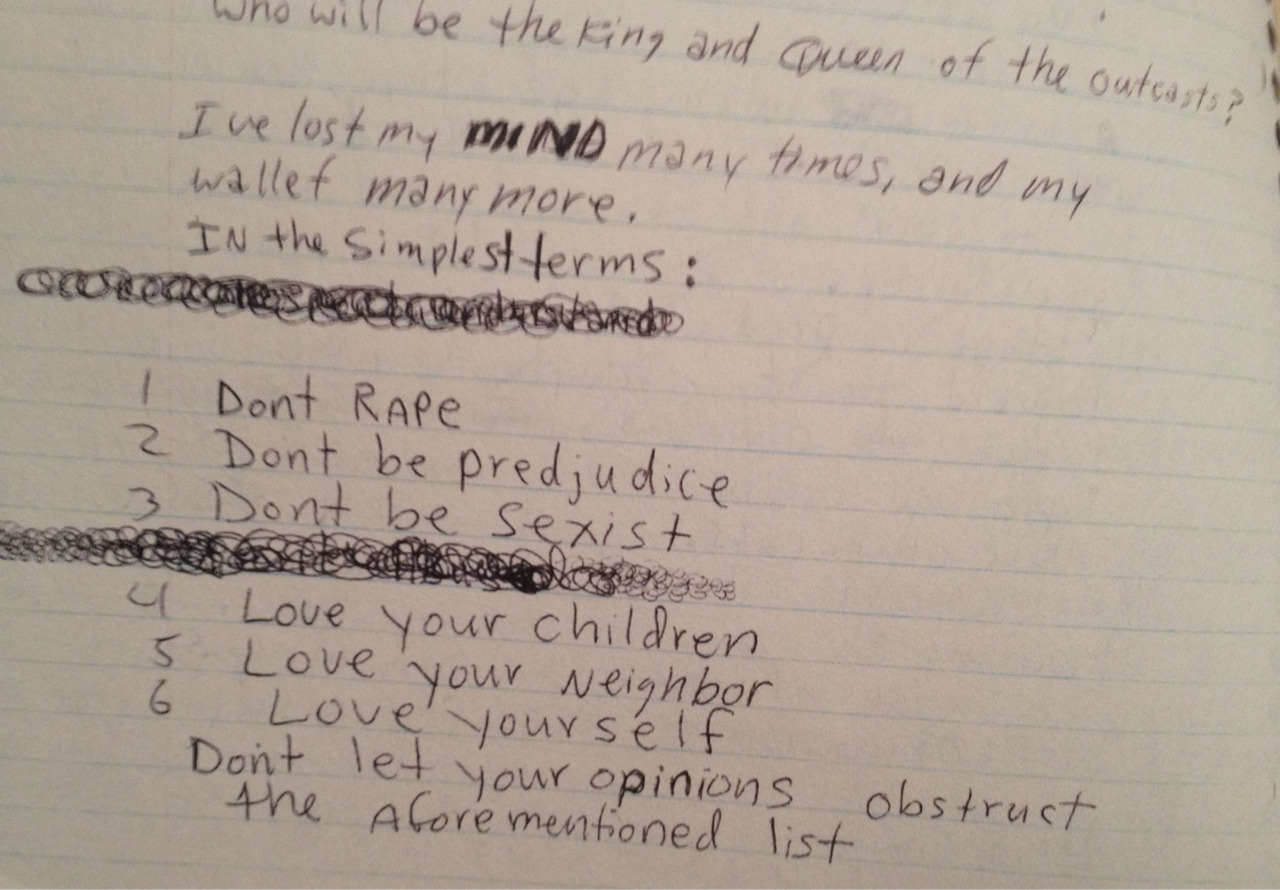 the-absolute-best-posts:  pennyslain: From Kurt Cobain's journals    My lovely followers, please follow this blog immediately!