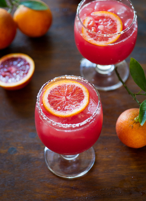 blood orange margaritas with bitters.