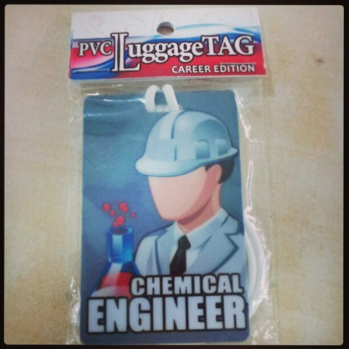 Thank you Cj! :) #bagtag #chemicalengineer