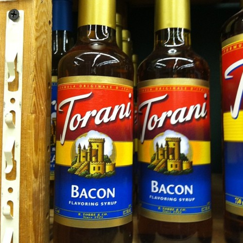 Hmm.. #bacon #coffee #bacon #syrup #bacon (at Cost Plus World Market)