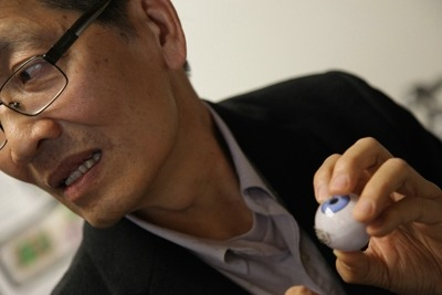 "neurosciencestuff:  Farsighted engineer invents bionic eye to help the blind For UCLA bioengineering professor Wentai Liu, more than two decades of visionary research burst into the headlines last month when the FDA approved what it called ""the first bionic eye for the blind."" The Argus II Retinal Prosthesis System — developed by a team of physicians and engineers from around the country — aids adults who have lost their eyesight due to retinitis pigmentosa (RP), age-related macular degeneration or other eye diseases that destroy the retina's light-sensitive photoreceptors. At the heart of the device is a tiny yet powerful computer chip developed by Liu that, when implanted in the retina, effectively sidesteps the damaged photoreceptors to ""trick"" the eye into seeing. The Argus II operates with a miniature video camera mounted on a pair of eyeglasses that sends information about images it detects to a microprocessor worn on the user's waistband. The microprocessor wirelessly transmits electronic signals to the computer chip, a fingernail-size grid made up of 60 circuits. These chips stimulate the retina's nerve cells with electronic impulses which head up the optic nerve to the brain's visual cortex. There, the brain assembles them into a composite image. Recipients of the retinal implant can read oversized letters of the alphabet, discern objects and movement, and even see the outlines and some details of faces. And while the picture is far from perfect — the healthy human eye sees at a much higher resolution — it's a breakthrough for people like the first patient, a man in his 70s who was blinded at age 20 by RP, to receive the implant in clinical trials. ""It was the first time he'd seen light in a half-century,"" said Liu, adding that ""it feels good as the engineer"" to have helped make this possible. Liu joined the Artificial Retina Project in 1988 as a professor of computer and electrical engineering at North Carolina State University. The multidisciplinary research project was funded by the U.S. Department of Energy's Office of Science because it envisioned a potential pandemic of eyesight loss in America's aging population. Leading the project was Duke University ophthalmologist and neurosurgeon Dr. Mark Humayun, now on faculty at USC. He tapped Liu to engineer the artificial retina. ""I thought it was a great idea,"" Liu said. ""But I asked, 'What can I do?' because I didn't know much about biology."" Humayun handed him a six-inch-thick medical manual on the retina. ""The learning curve was very steep,"" Liu recalled with a laugh. However, Liu's fellow engineers questioned his sanity. ""I was working on integrated chip design and had just gotten tenure when I signed on to this project. They said, 'You're crazy!' But I'm glad I made that choice, getting into this new field."" How the bionic eye works  Crazy."