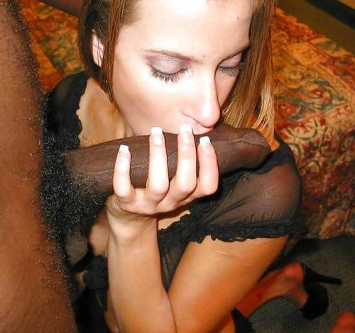 femdomhotwifecuckoldinterracial:  She loves the strong masculine smell of his cock, just as much as the hot meaty taste and feel of it.