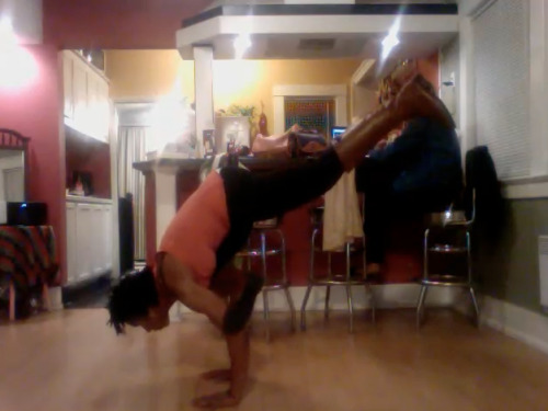 Flying Pigeon Pose ( Eka Pada Galavasan \ Flying pigeon. Doesn't look like a pigeon to me, but whatevaaa. I love seeing progress :D