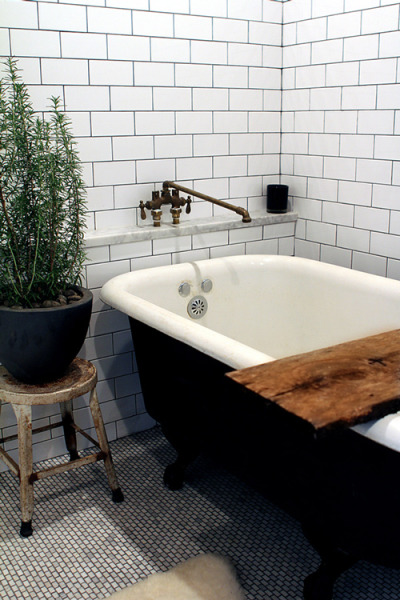 workman:  myidealhome: plant in the bathroom (via  Design*Sponge)