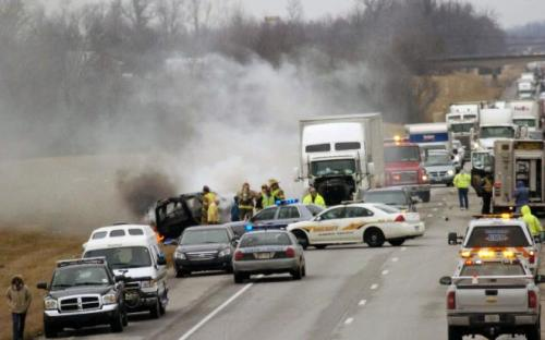 Multi-car crash - I-65, Elizabethtown, KY - 3/2/2013 - 6 fatalities, at least 5 injured.  more
