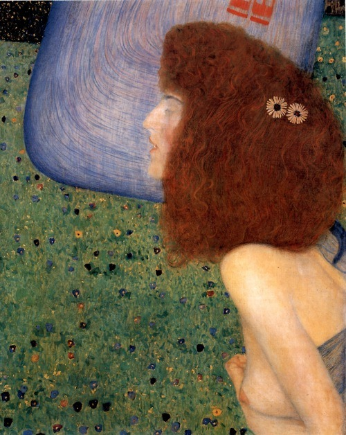 barcarole:  Girl with Blue Veil, Gustav Klimt, 1903.