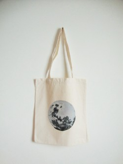 Full moon tote  Available on etsy