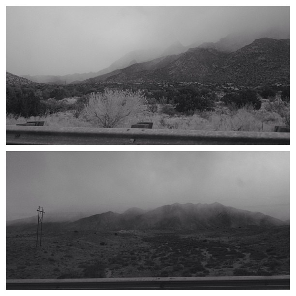 Sunday storm on the Sandias. Shot with @hueless  (at Sandia Resort and Casino)