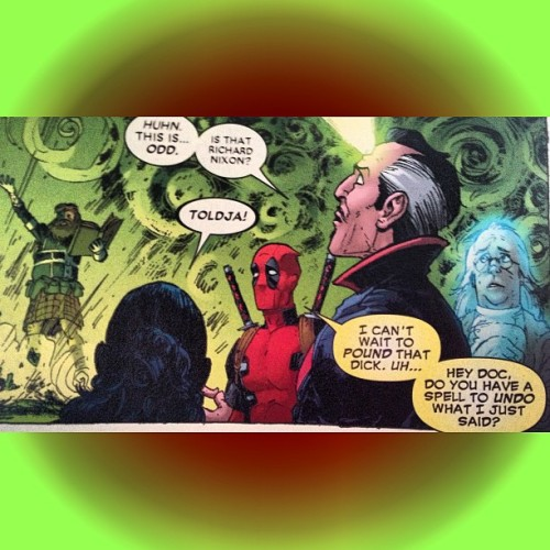 I'm a sucker for witty banter in #comicbooks… #Deadpool is killing me! I want to post every other fuckin panel… Overkill? #Marvel #Comics #lol Puts the #funny in #funnybook!
