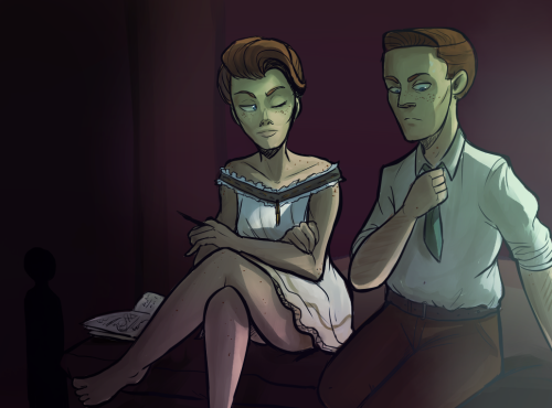 muffinpines:  obligatory Rosalind undergarments fanart! Robert just said something sexist by accident and Rosalind is not impressed.