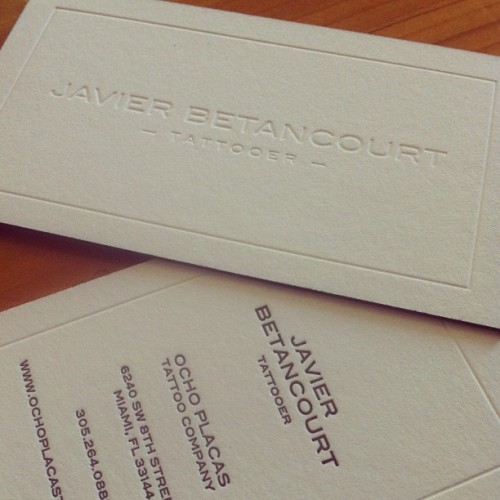 Letterpress, blind deboss, duplexed paper with black edges for @javierbetancourt , #GoodLawd …