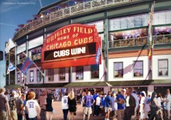 chicagocubs:  Want to learn more about our planned restoration of Wrigley Field? Visit www.WrigleyField.com, and look for ways to show your support!