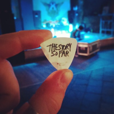 A little souvenir from tonight's gig! #Trillians #thestorysofar  (at Trillians Rock Bar)