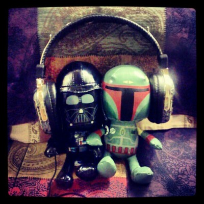 Giggle Life Tip 1: …jam out with a friend… #starwars #darthvador #bobafett